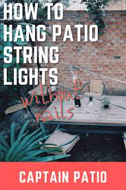 hang outdoor patio lights without nails