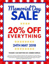 Memorial Day Retail Flyer Design Click To Customize