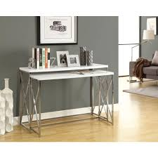 monarch specialties glossy white piece nesting console tablei
