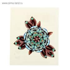 татуировка на тело цветок в стиле олд скул 1252263 купить по