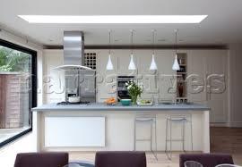 breakfast bar lighting. Breakfast Bar With Pendant Lights And Extractor In London Kitchen Extension UK Lighting