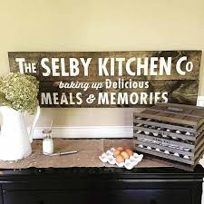 image vintage kitchen craft ideas. board u0026 brush personalized wooden kitchen sign follow brushlittle rock image vintage craft ideas t