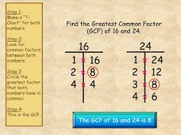 Greatest Common Factor Chart Greatest Common Factor Ppt Download