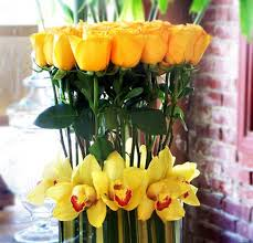 classy decorating ideas yellow roses flower arrangements for