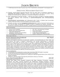 Sample Resume Operations Manager 16 Cover Letter Examples Supply
