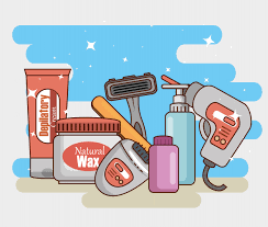 Free Vector | Hair removal product set