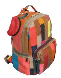 amerileather xanadu leather backpack rainbow stripes 4