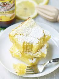 summer shandy lemon bars the base is a simple shortbread crust it s rich