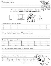 letter l worksheets the letter l templates