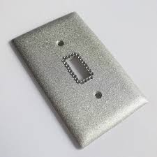 SIlver Bling Light Switch Cover.