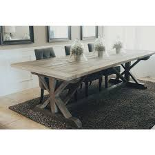 gray wood dining table. Made To Order 108 Inch X Style Farmhouse Trestle Table ($795) ❤ Liked On Polyvore Featuring Home, Furniture, Tables, Dining Room Gray Wood O