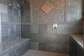 stone shower floor outstanding charming pebble stone