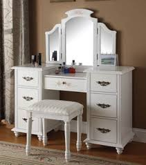 glass bedroom vanity. torian white wood glass vanity sets w/mirror bedroom r