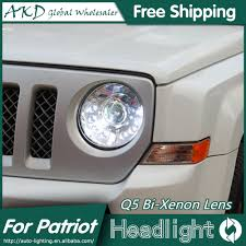 akd car styling for jeep patriot headlights 2010 2016 patriot led headlight led drl bi xenon lens high low beam parking in car light assembly from