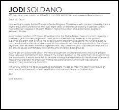 Student Affairs Cover Letter Sample Program Coordinator Cover Letter Sample Cover Letter