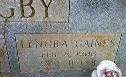 Lenora Gaines Bagby (1900-1991) - Find A Grave Memorial