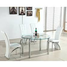 glass dining table and white chairs glass dining table and 6 white leather chairs