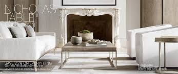 The base can be white or black, while the top is available in carrara marble, black. Nicholas Table Collections Rh