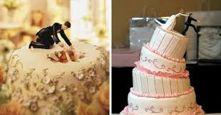 wedding cake toppers. 16 hilariously creative wedding cake toppers. #6 is the story of every couple. toppers p
