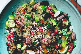 Luise Green Kitchen Stories Green Kitchen Recipes Quinoa Salad With Almond And Mint Healthy