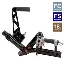 husky pneumatic solid hardwood flooring nailer with 18 gauge brad nailer bo kit 2