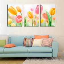 >tulip wall art elitflat online get cheap tulip oil painting aliexpresscom