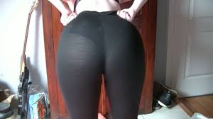 Hot Ass girl Wedgie in see through Yoga Pants YouTube