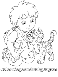 Small Picture Unique Diego Coloring Pages 77 With Additional Line Drawings with