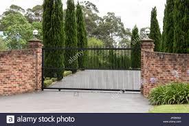 Brick Entrance Designs Driveway Brick Fence Stock Photos Brick Fence Stock Images Alamy