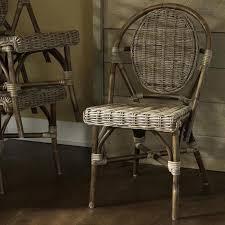 padmas plantation paris kubu bistro chair set of 2 grey rattan