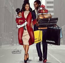 Image result for black art family shopping