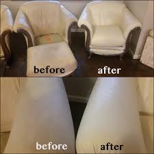 off white leather club chairs red with ivory leather dye before and after
