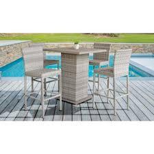 aluminum bar height patio dining