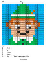 We have even more christmas color by number fun on our second page. Christmas Coloring Pixel Color