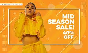 Fashion Banner Memphis Style Banner Fashion Sale Design Download Free