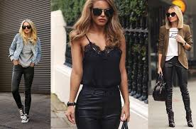 outfit grid womens leather pants black pants outfit