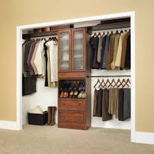sectional open wall closet ideas with brown wooden cloth