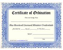 blank ordination certificates free printable certificate of ordination licensed minister