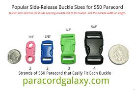 The Buckle Size Chart Buckles Size Chart Paracord Supplies Parachute Cord Paracord