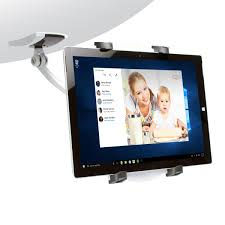 wall under cabinet desk mount for tablets with 2 mounting bases