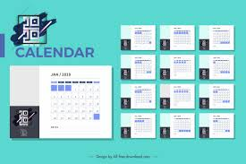 Plain Calendar 2020 2020 Calendar Template Modern Simple Plain Design Free