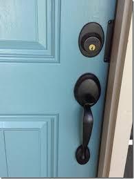 front door knob. Painting The Front Door, Love Colored Door With Black Knobs Knob A
