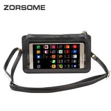 chinatouch screen pu leather cross