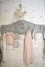 Shabby Chic Coat Rack Fascinating Prairie Chic Coat Rack Made From An Old Footboard And Coat Hooks