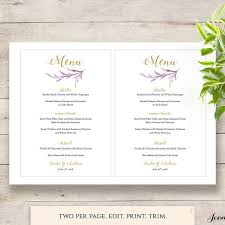 pages menu template printable menus place cards numbers and seating chart connie joan