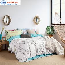 aliexpress com svetanya simple forest trees birds print bedding set 800tc sanding cotton queen king size duvet cover flat sheet pillowcases from