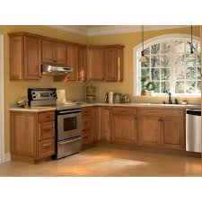 Medium Oak Kitchen Cabinets Hampton Bay Hampton Assembled 24x345x24 In Drawer Base Kitchen