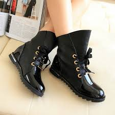 women s patent leather low heel ankle boots lace up flats oxfords riding shoes
