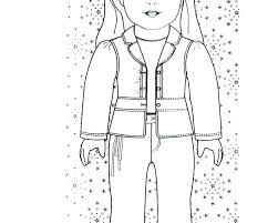 Astonishing Decoration Girl Doll Coloring Pages American Girl