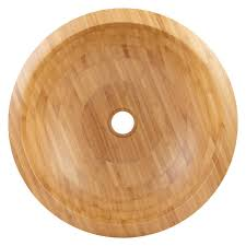 Bamboo Bathroom Sink Round Bamboo Sloped Rim Vessel Sink Bathroom
